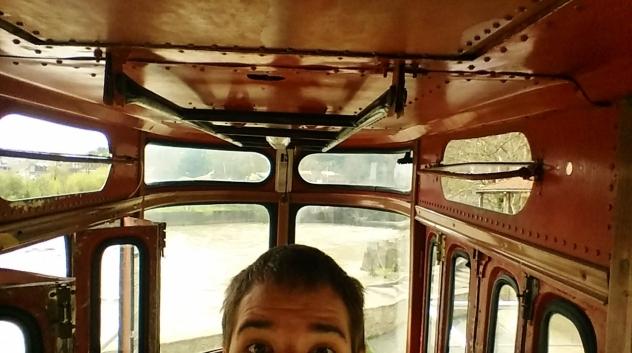 Viimeistä selfietä ottamassa ennen pelottavaa matkaa.