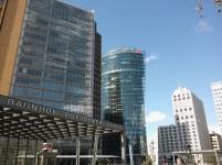 Potsdamer Platzin aukio eroaa vähän Budapestin näkymistä.