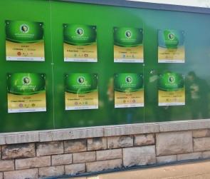 Saksan cupin eli DFB-Pokalin voittajat löytyy kaikki tästä muurista. Finaali on pelattu olympiastadionilla vuodesta 1985.