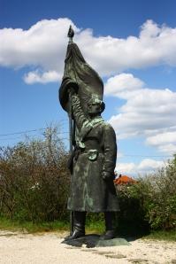 Puna-armeijan sotilas.
