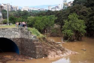 Viime kesäkuussa Tbilisissä oli suuria tulvia, joiden seurauksena suuri osa eläintarhan eläimistä pääsi hukkumaan tai karkaamaan (ja tapettiin sitten myöhemmin). Traagisin tapahtuma oli varastorakennuksessa piileskellyt tiikeri, joka hyökkäsi miehen kimppuun. Hän kuoli myöhemmin vammoihinsa sairaalassa. Kuolleita tulvissa oli noin 17. Kuva AP Photo/Sergei Poliakov
