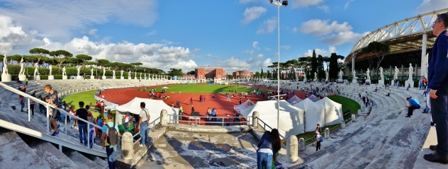 Stadio dei Marmi – Pietro Mennea. Mennean Petehän oli pikajuoksija, 200m 19,79 vuodelta 1979