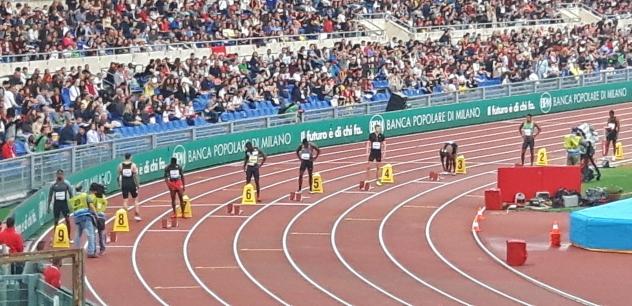 Maailman nopein valkoinen mies, Christophe Lemaitre, rata 4.