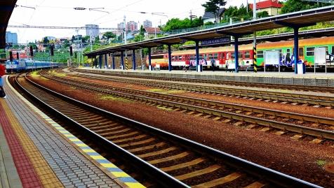 Neljän junalla jo takaisin Budapestia kohti.