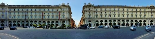 Piazza della Rupubblica ja panoramaa.